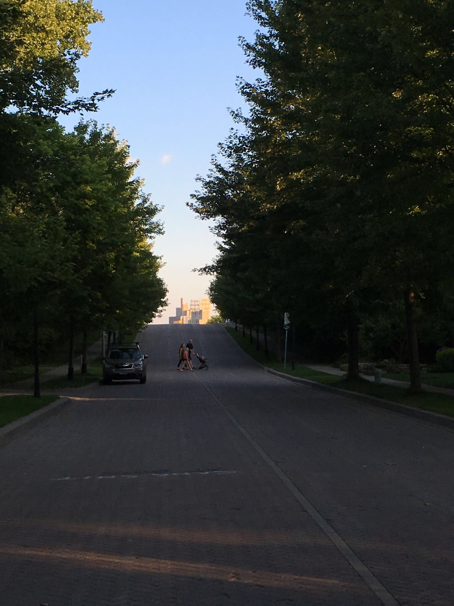 I liked this view of the Gold Medal Flour sign looking down a quiet residential street on Nicollet Island.