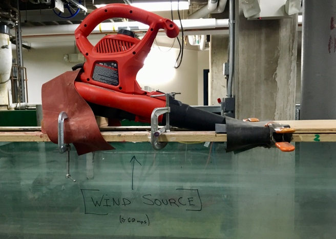 This is not the high-tech wind tunnel. This is a leaf blower.