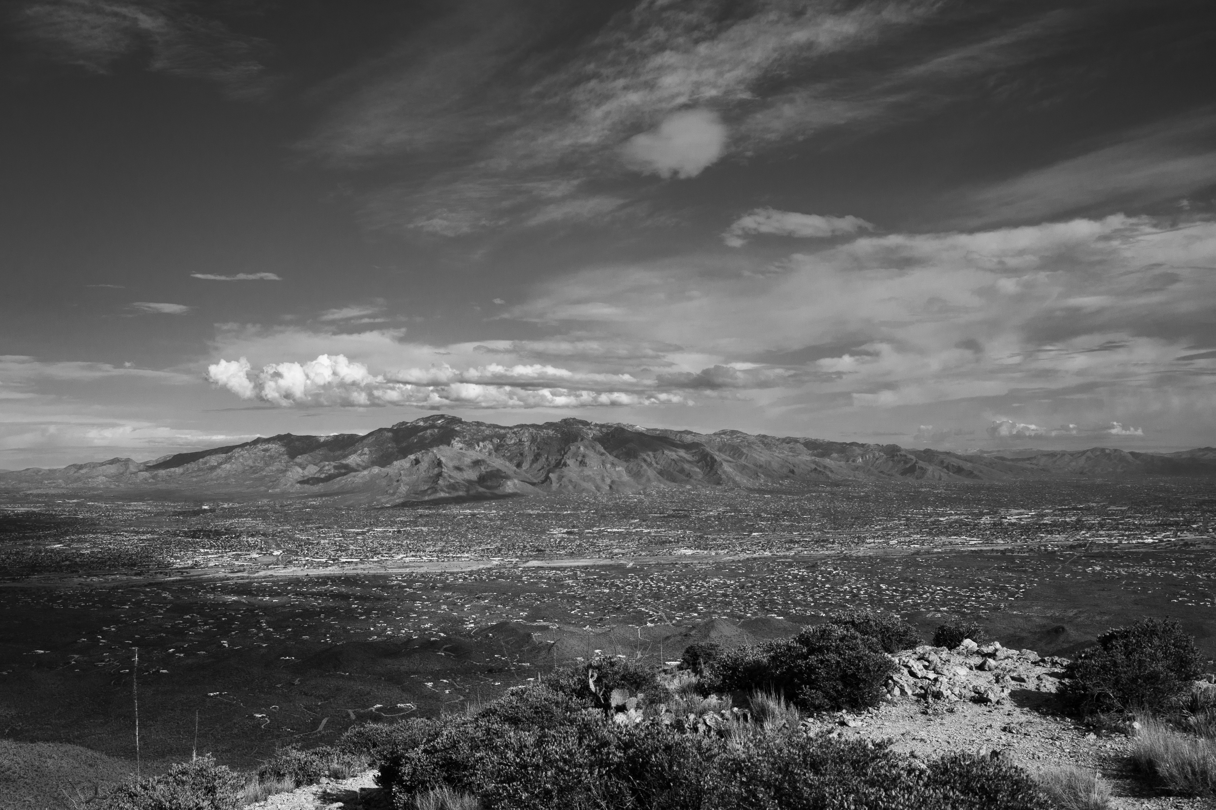 A view from the top of Wasson Peak in Tucson, Arizona. Four-hour round-trip hike with a brief picnic break at the peak.